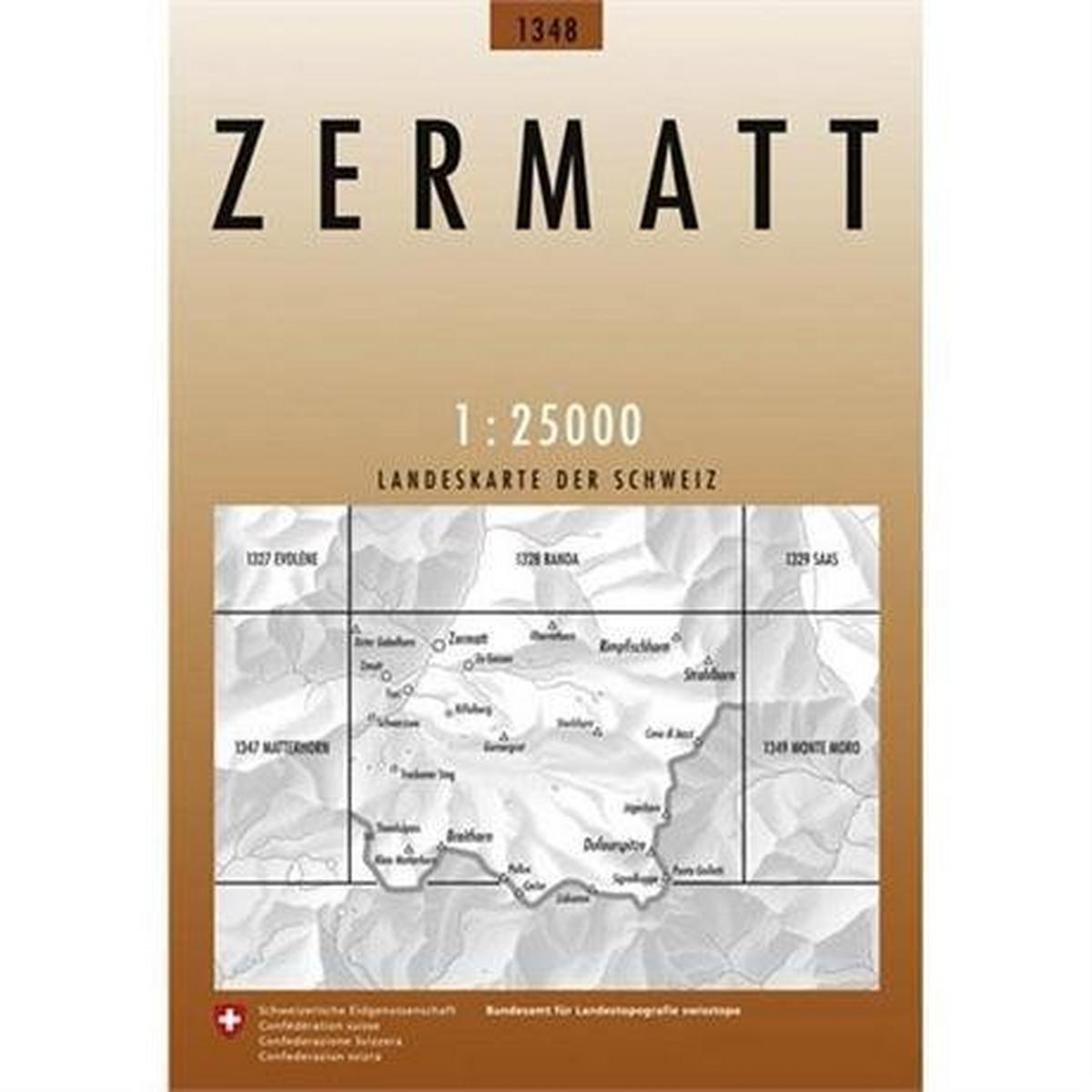 Miscellaneous Switzerland Map 1348 Zermatt