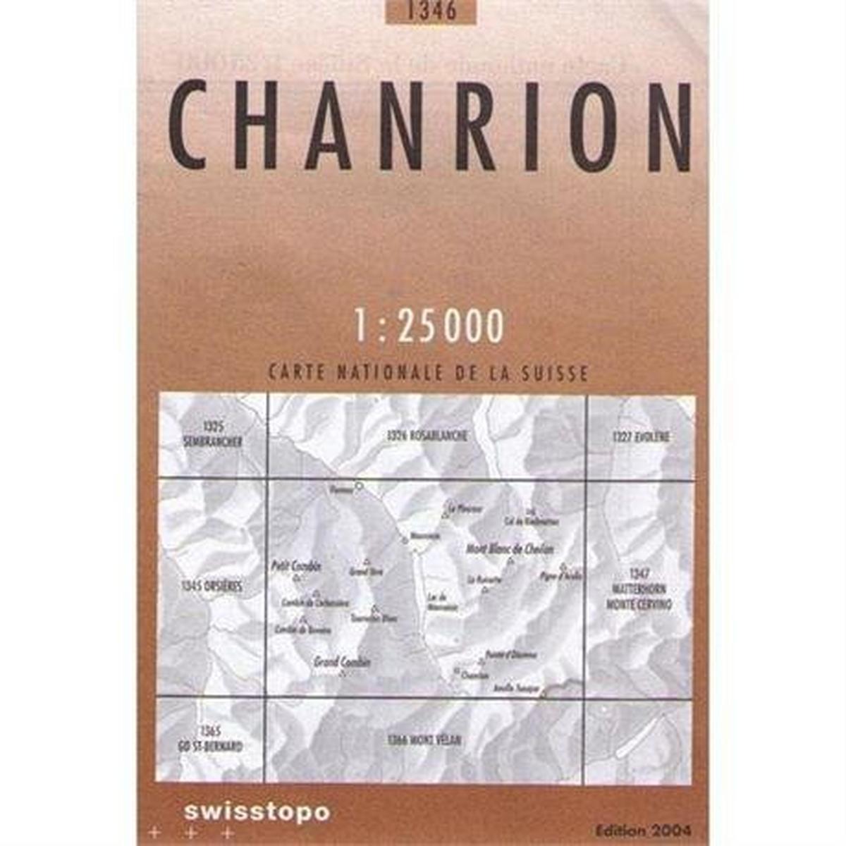 Miscellaneous Switzerland Map 1346 Chanrion