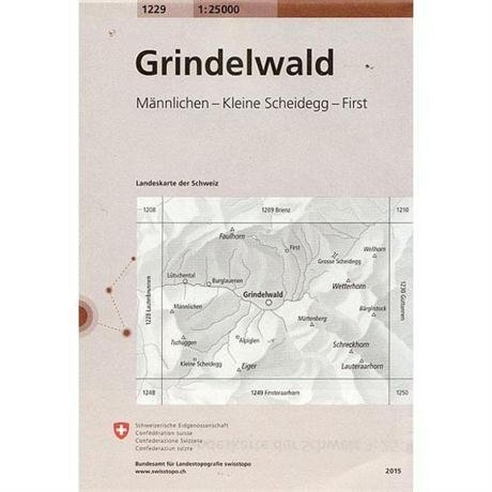 Miscellaneous Switzerland Map 1229 Grindelwald