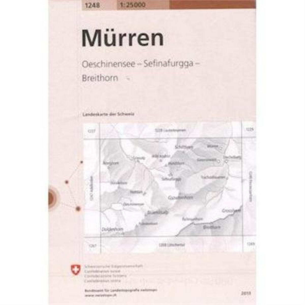 Miscellaneous Switzerland Map 1248 Murren