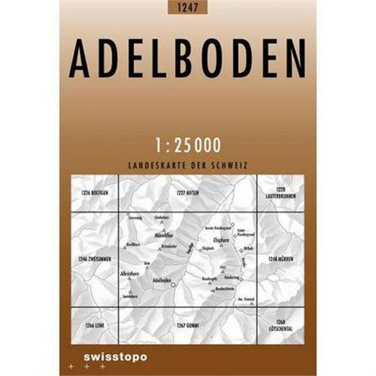 Miscellaneous Switzerland Map 1247 Adelboden 1:25,000