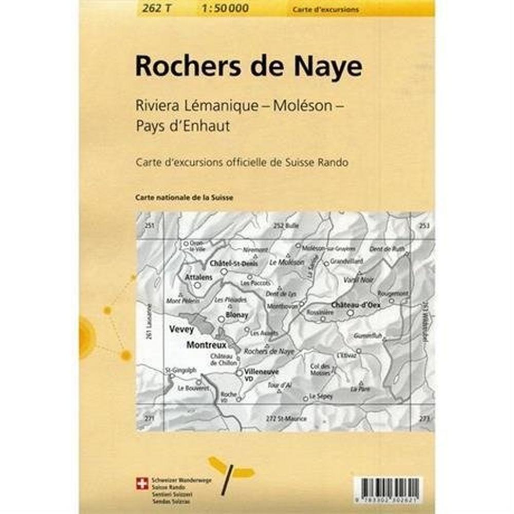 Miscellaneous Switzerland Map: Rochers De Naye 262T 1:50k