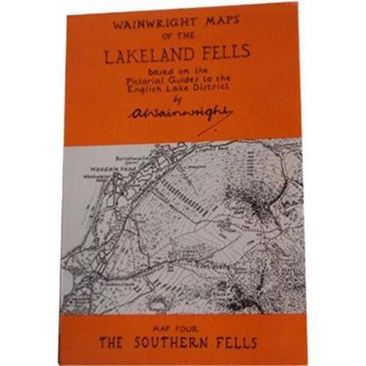 Miscellaneous Wainwright Map No.4 The Southern Fells