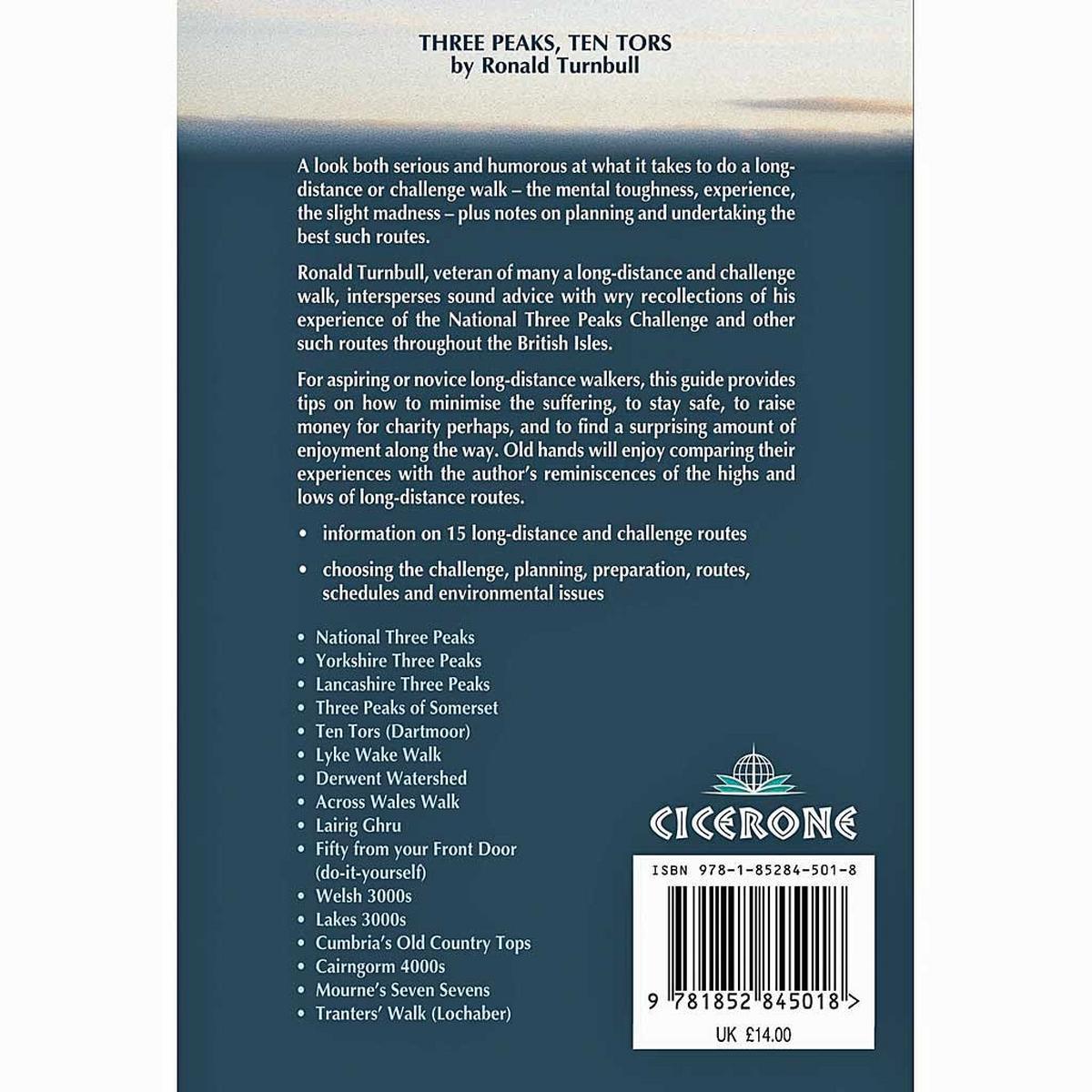 Cicerone Three Peaks, Ten Tors Guidebook