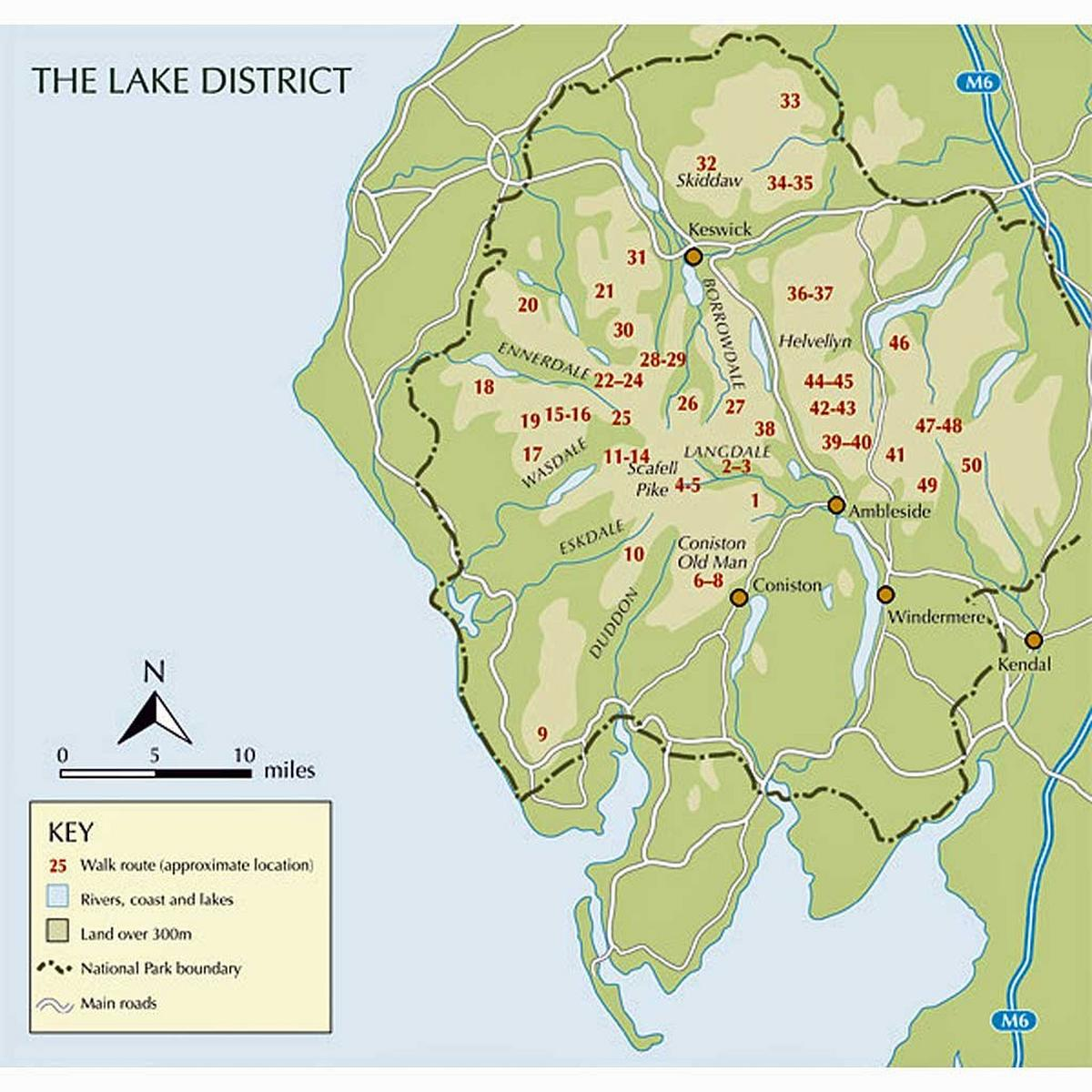 Cicerone Guide Book: Great Mountain Days in the Lake District: Richards