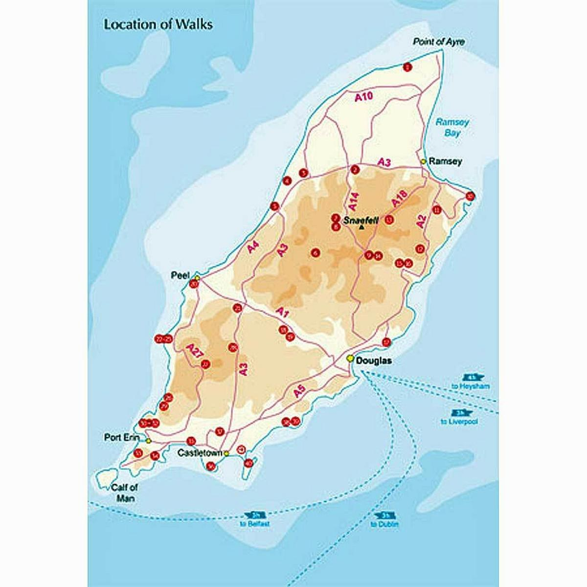 Cicerone Guide Book: Walking on the Isle of Man: Marsh