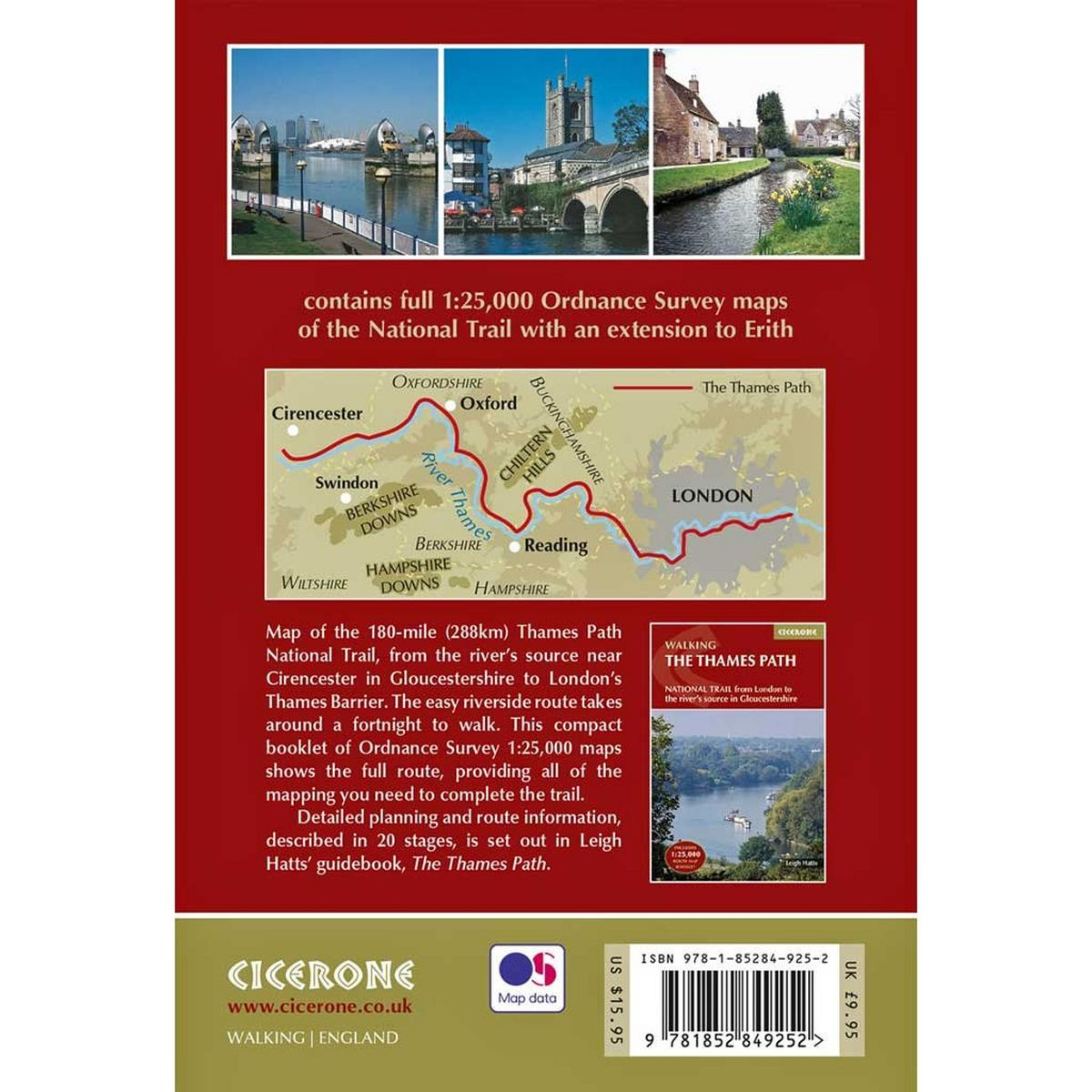 Cicerone Walking Guide Book: The Thames Path (incl. map booklet)