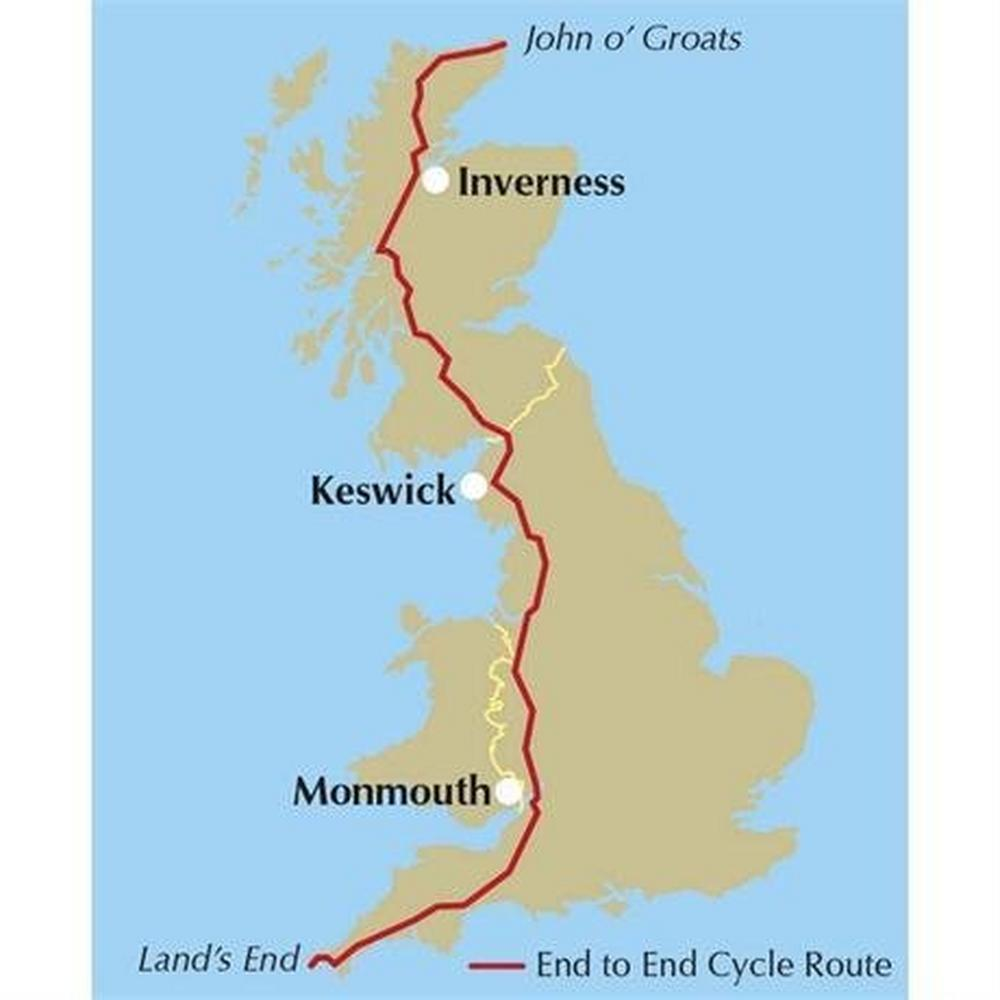 Cicerone Cycling Guide Book: The End to End Cycle Route