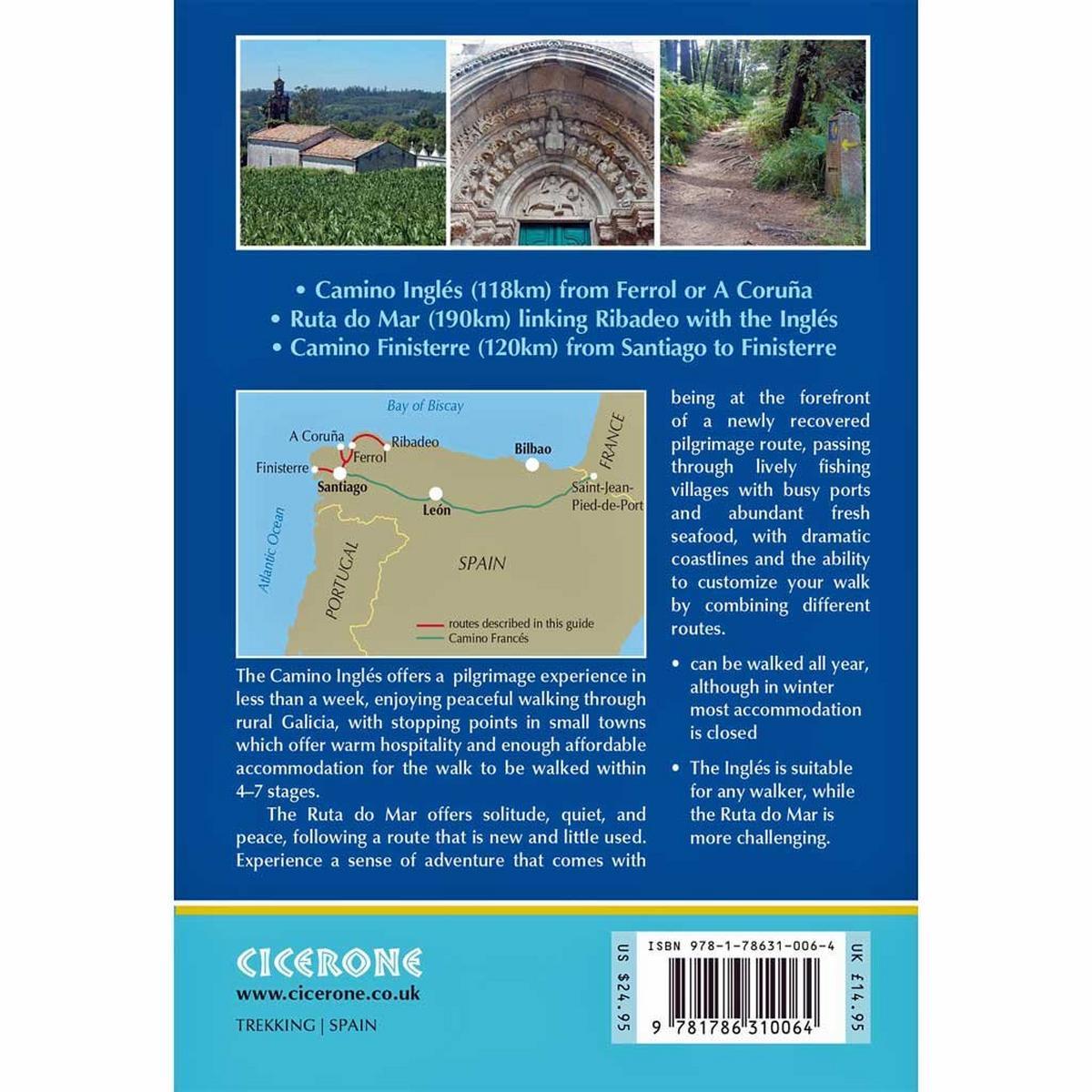 Cicerone Walking Guide Book: Camino Ingles and Ruta do Mar