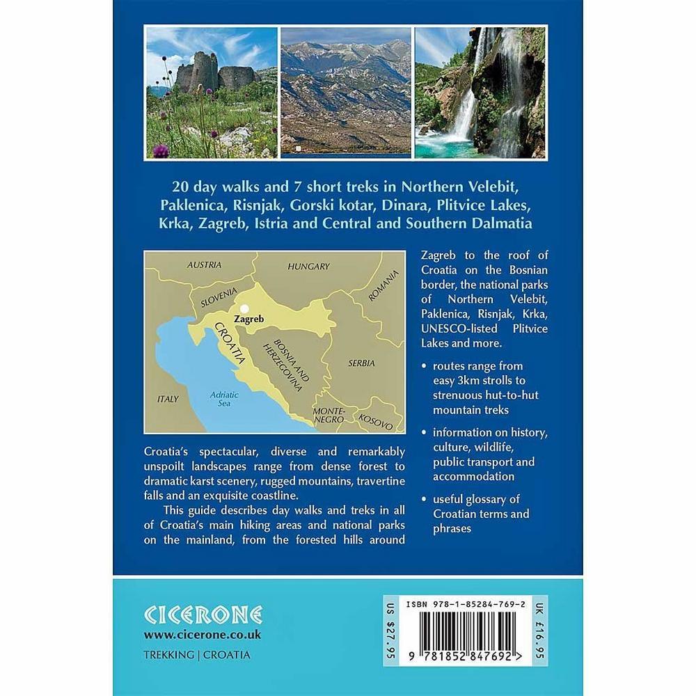 Cicerone Walking Guide Book: Walks and Treks in Croatia