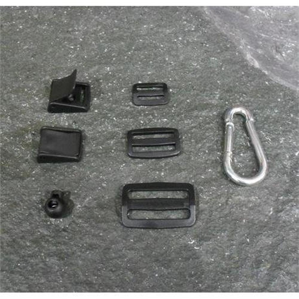 Miscellaneous Plastic 3 Bar Slide Buckles 25mm Black