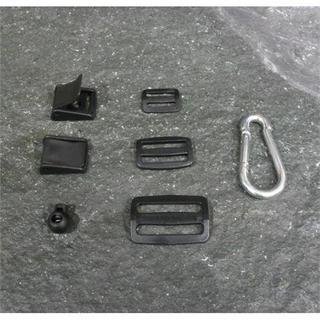 Plastic 3 Bar Slide Buckles 25mm Black