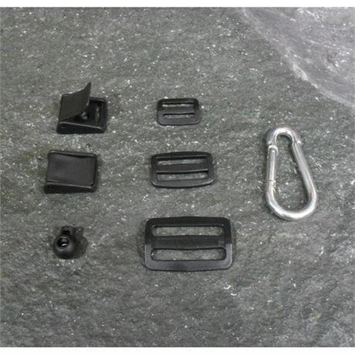 Miscellaneous Plastic Flat Buckles for Webbing Black