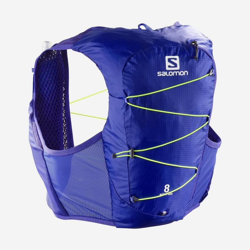 Active Skin 8 - Clematis Blue / Safety Yellow