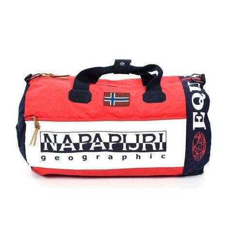 Red Napapijri Sarov Duffel Bag ... ee58aaef06b6f