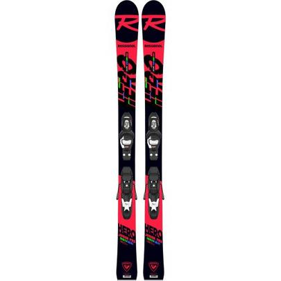 Rossignol Junior Hero Multi-Event Ski + 4 GW B78 Binding - Black/Red
