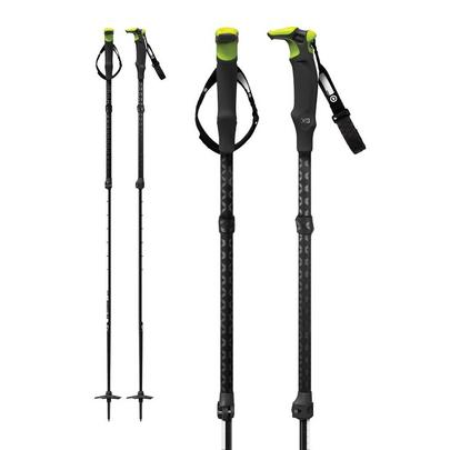 G3 Via Carbon Ski Pole - Short - Black / Blue