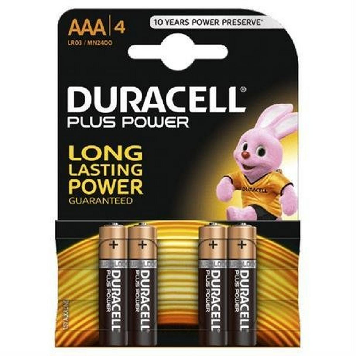 Duracell Batteries: Duracell MN2400K4P AAA Cell 4 Pack