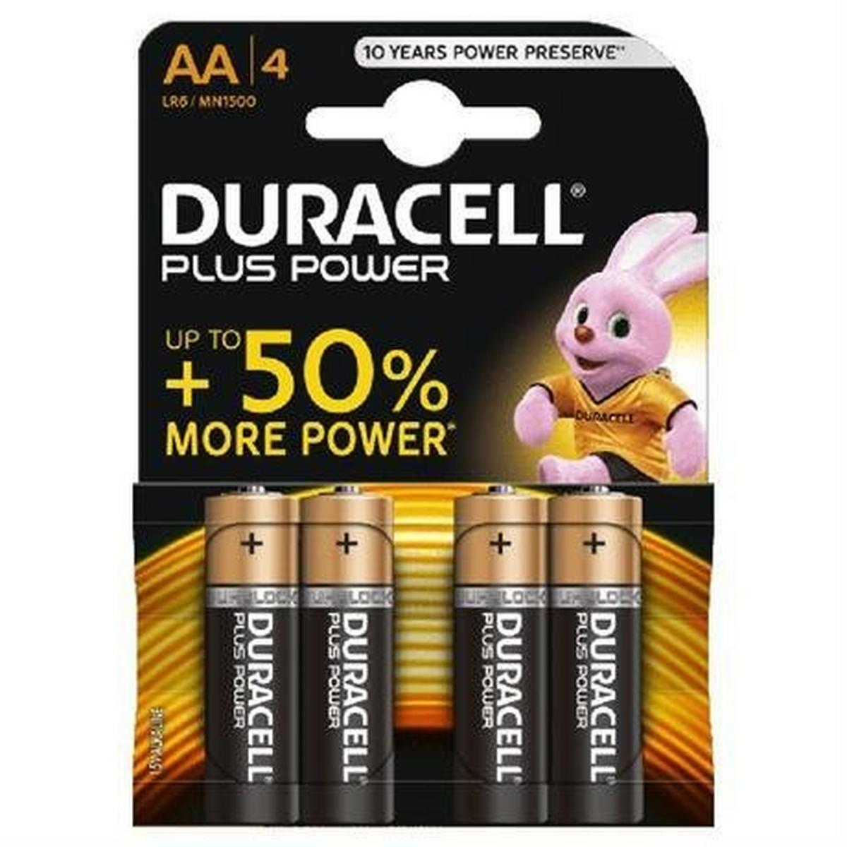 Duracell Batteries: Duracell MN1500K4P AA Cell 4 Pack