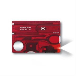 Victorinox Swiss Army Knife SwissCard Lite Transparent Red