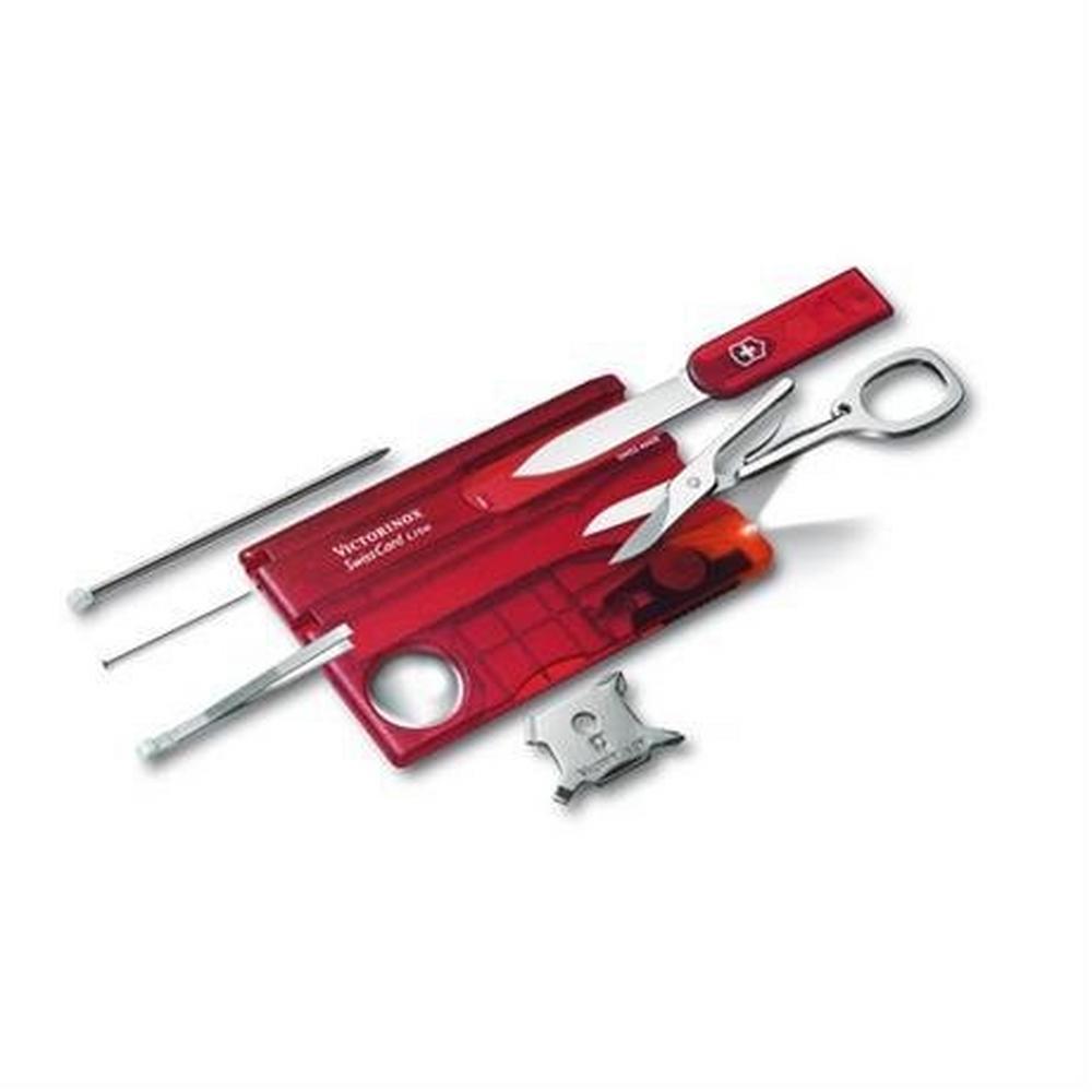 Swiss Army Victorinox Swiss Army Knife SwissCard Lite Transparent Red