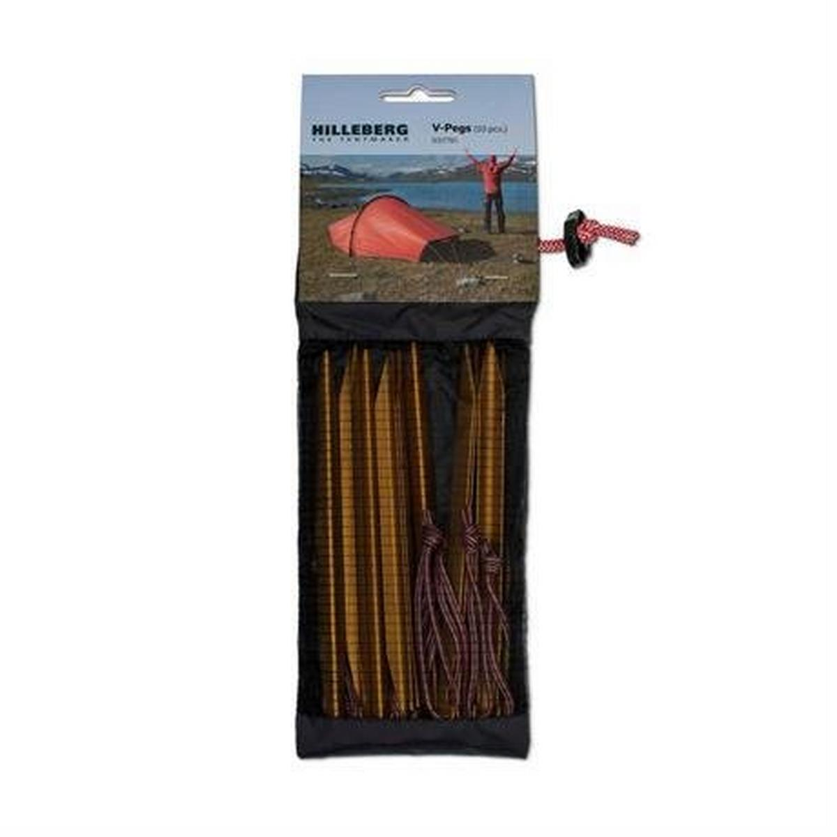 Hilleberg Tent Spare/Accessory Pegs (V-Pegs) Pack of 10