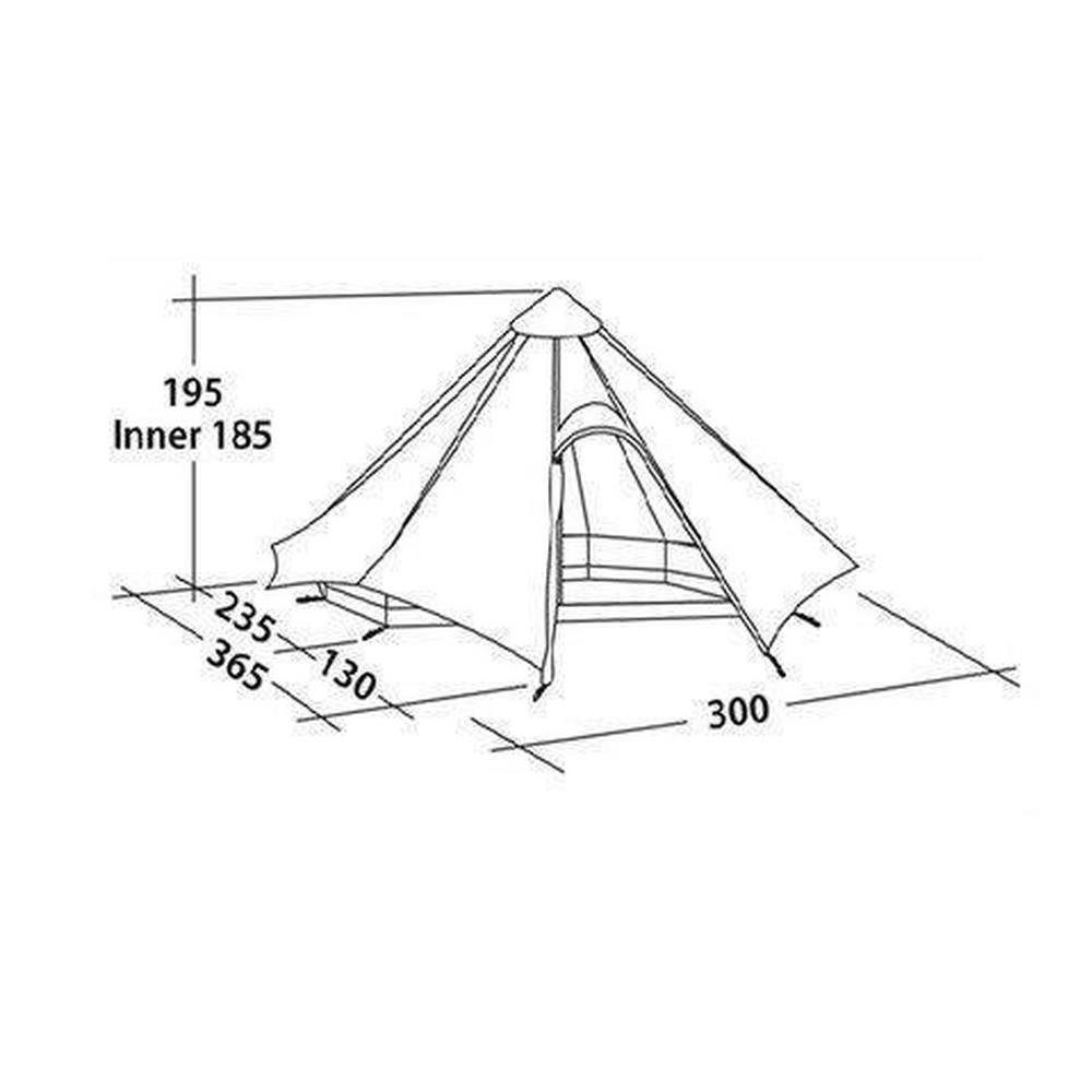Robens Cone 4 Person Tipi Tent - Green