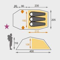 Coyote III - 3 Person Tent - Olive