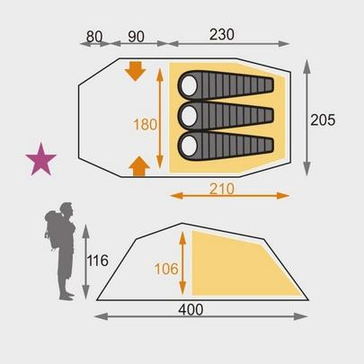 Oex Coyote III | Three Person Tent