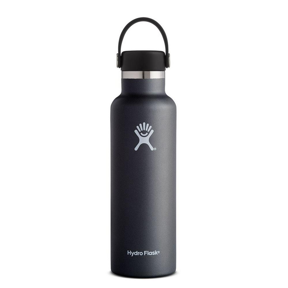 Hydro Flask HYDRATION 21oz / 0.6 L Standard Mouth Bottle Black