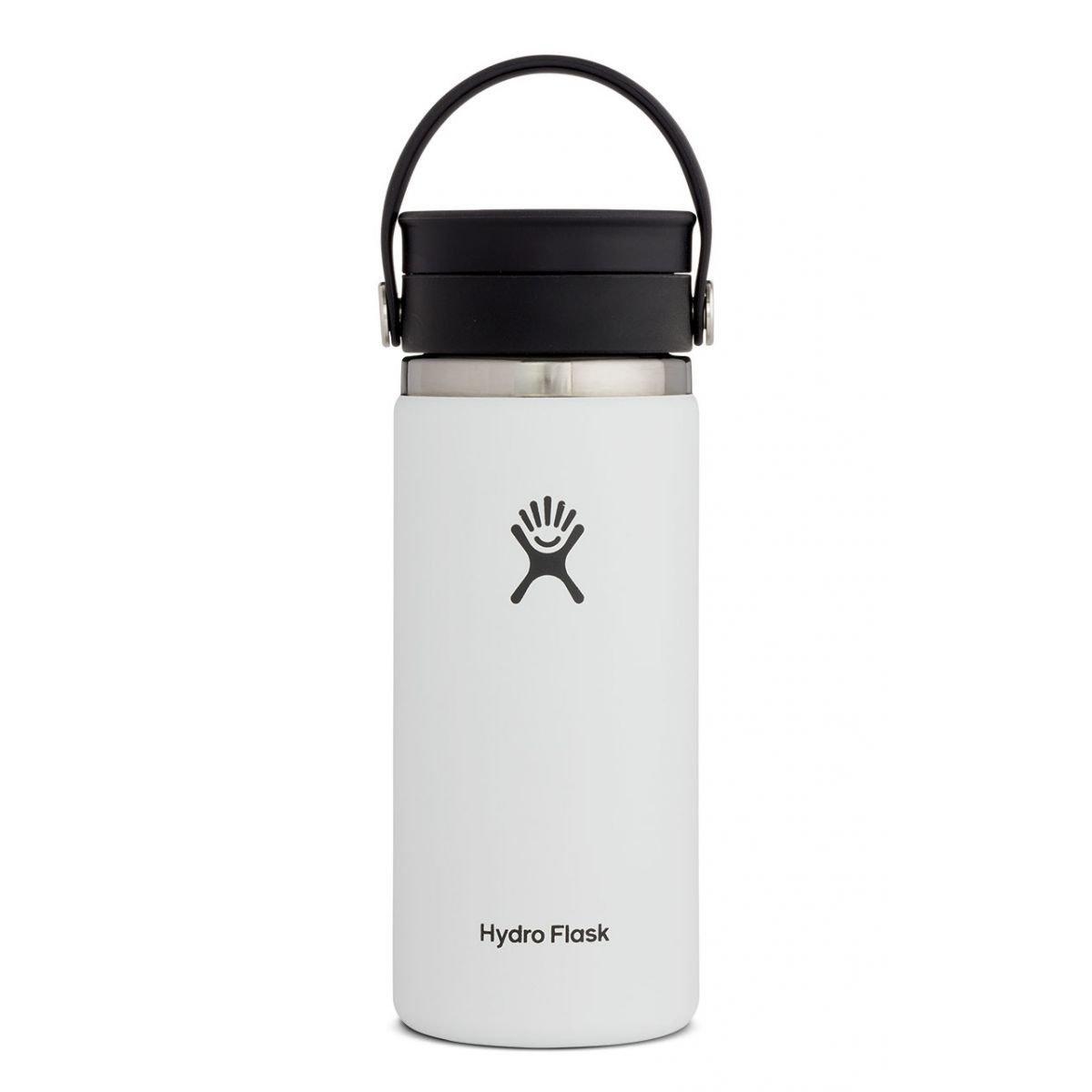 Hydro Flask 16oz Coffee Wide Mouth Flex - White
