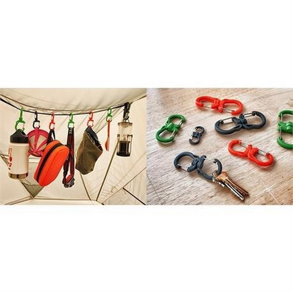 Tyny Tools Swivel Carabiner Clips SMALL Green (Pack of 4)