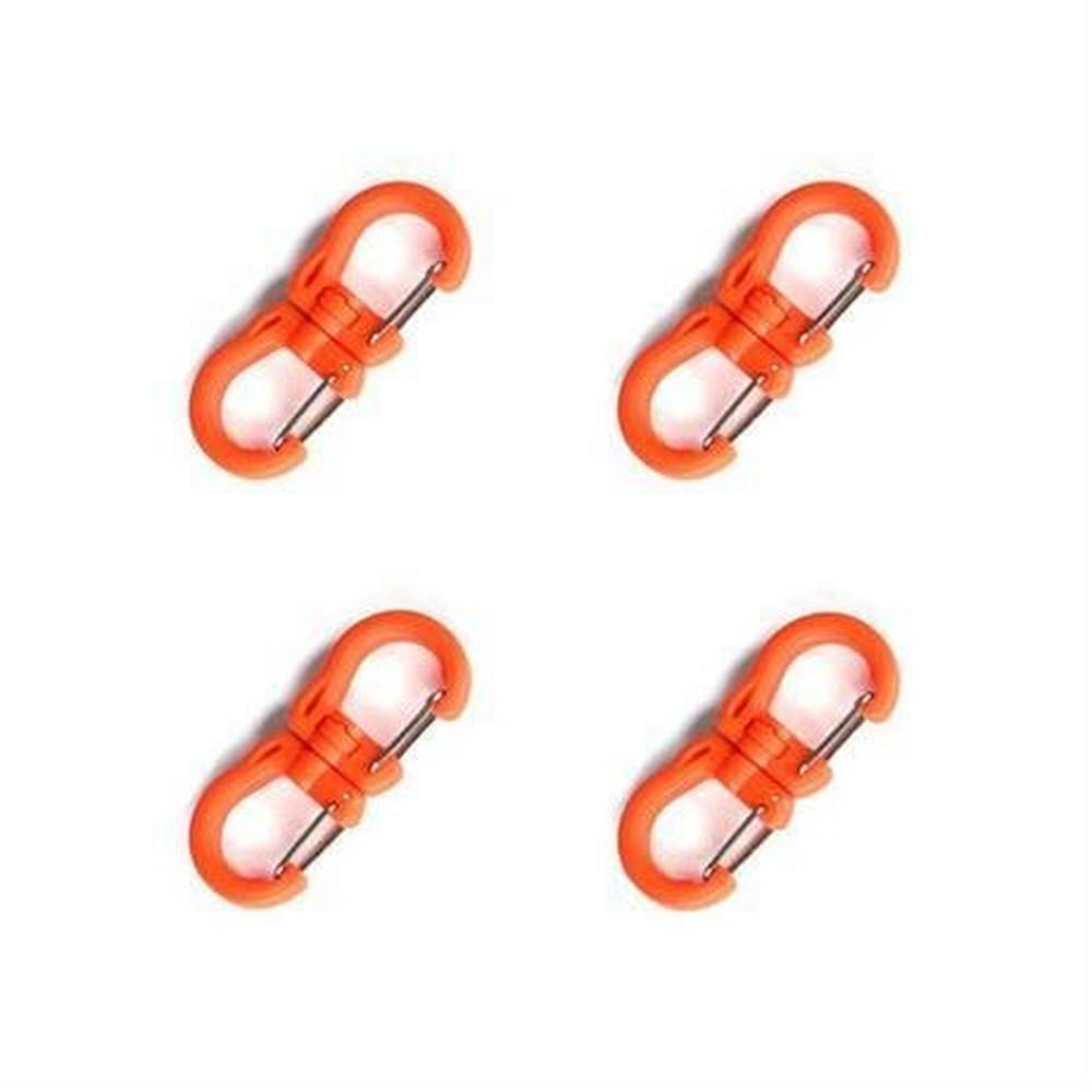 Tyny Tools Swivel Carabiner Clips SMALL Orange (Pack of 4)