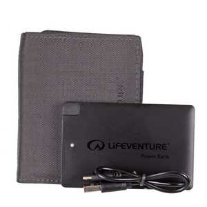 RFID Charger Wallet & Power Bank - Black