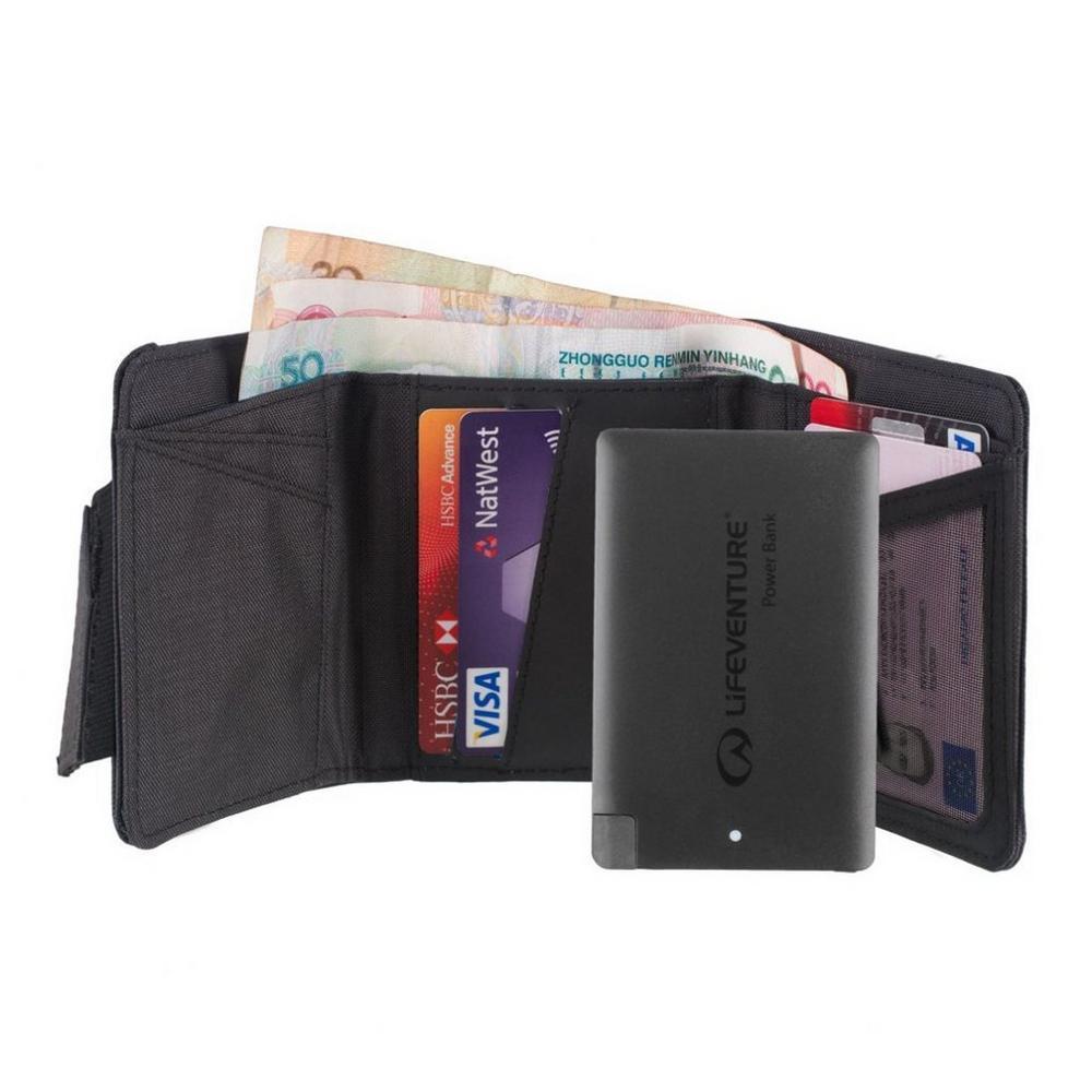 Lifeventure RFID Charger Wallet & Power Bank - Black