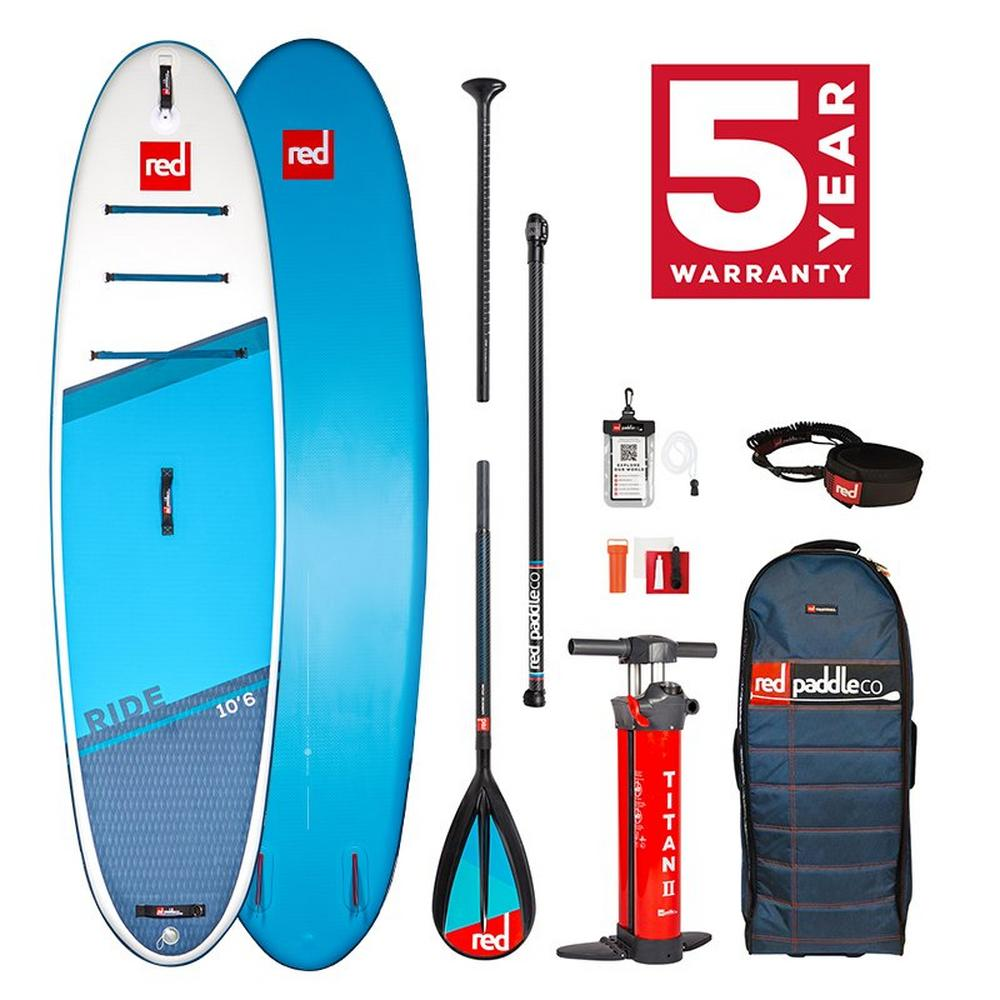 """Red Paddle Ride 10'6"""" Sup Board Package with Carbon Nylon Paddle"""