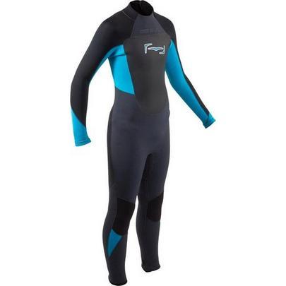 Gul Response Junior 5/3mm FL Wetsuit - Jet/Neon Blue