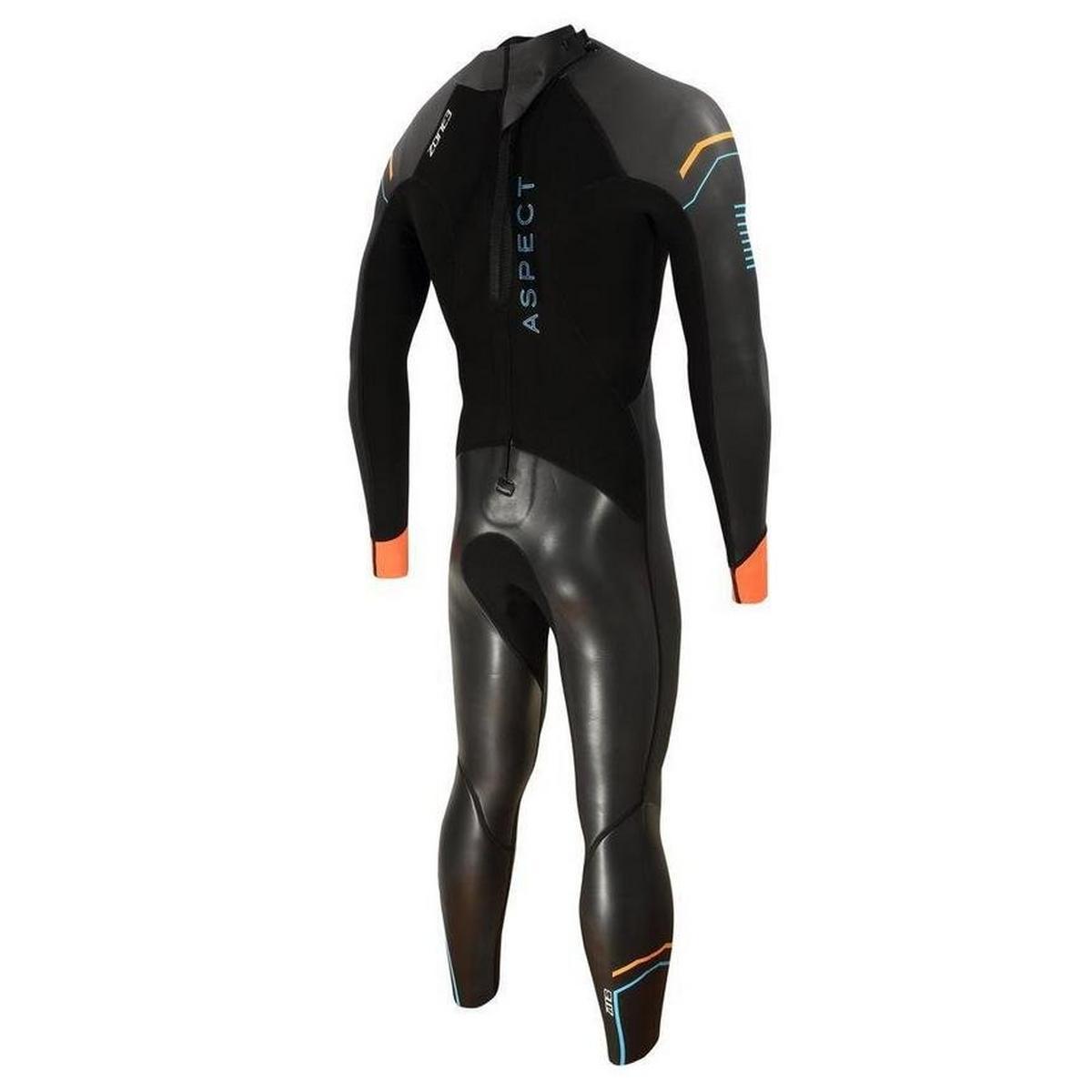 Zone3 Men's Aspect Wetsuit - Black/Blue/Orange