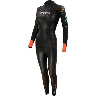 Zone3 Women's Aspect Wetsuit - Black/Blue/Orange
