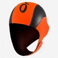 High Vis Neoprene Swim Cap - Orange / Black