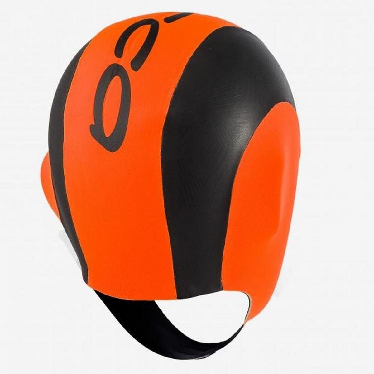 Orca High Vis Neoprene Swim Cap - Orange / Black
