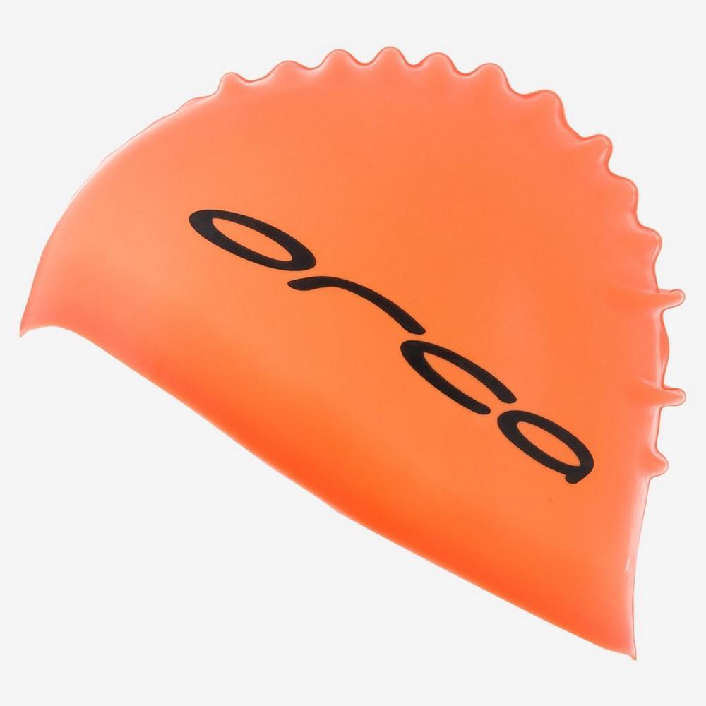 Orca Silicone Swim Cap - Orange