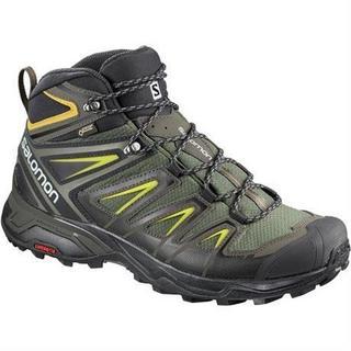 Boots Men's X Ultra 3 Mid GTX Castor Grey/Black/Green Sulphur