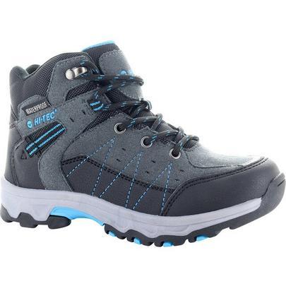 Hi-tec Boy's Shield Waterproof Walking Boot - Dark Grey