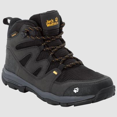 Jack Wolfskin Kid's Mountain Attack 3 Texaposure Mid - Black Yellow