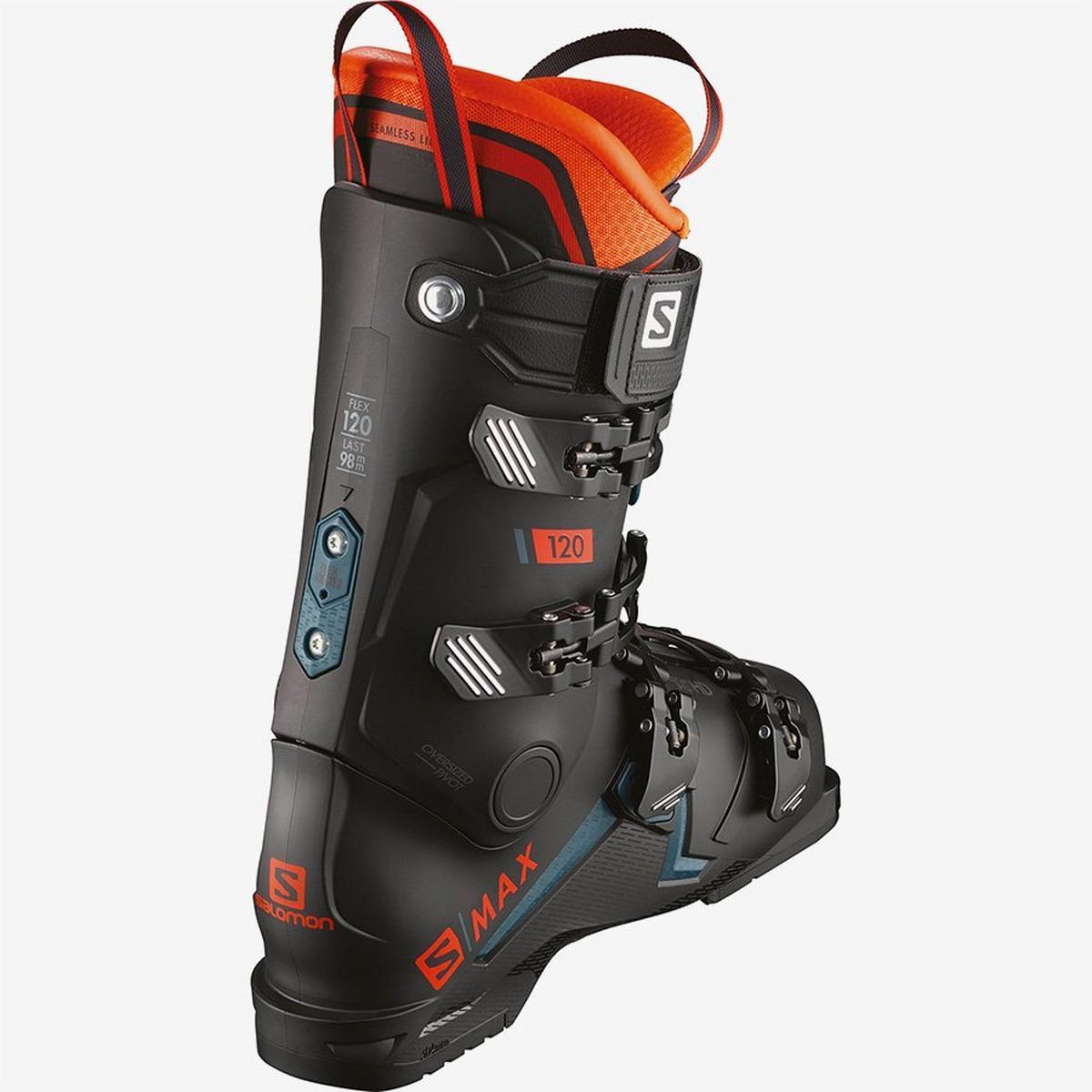 Salomon Men's S/MAX 120 Ski Boot - Orange/Black