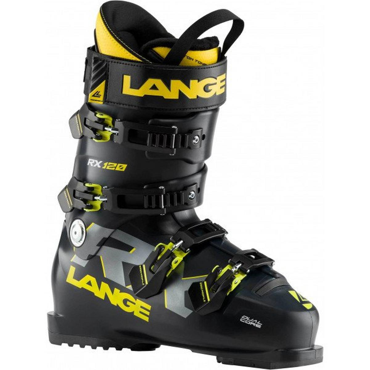 Lange Men's RX 120 Ski Boot - Black/Yellow
