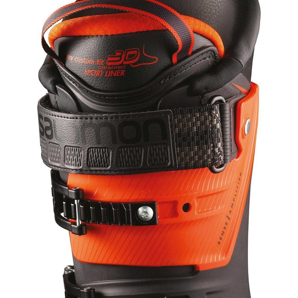 Salomon Men's S/MAX 100 Ski Boot - Black/Orange