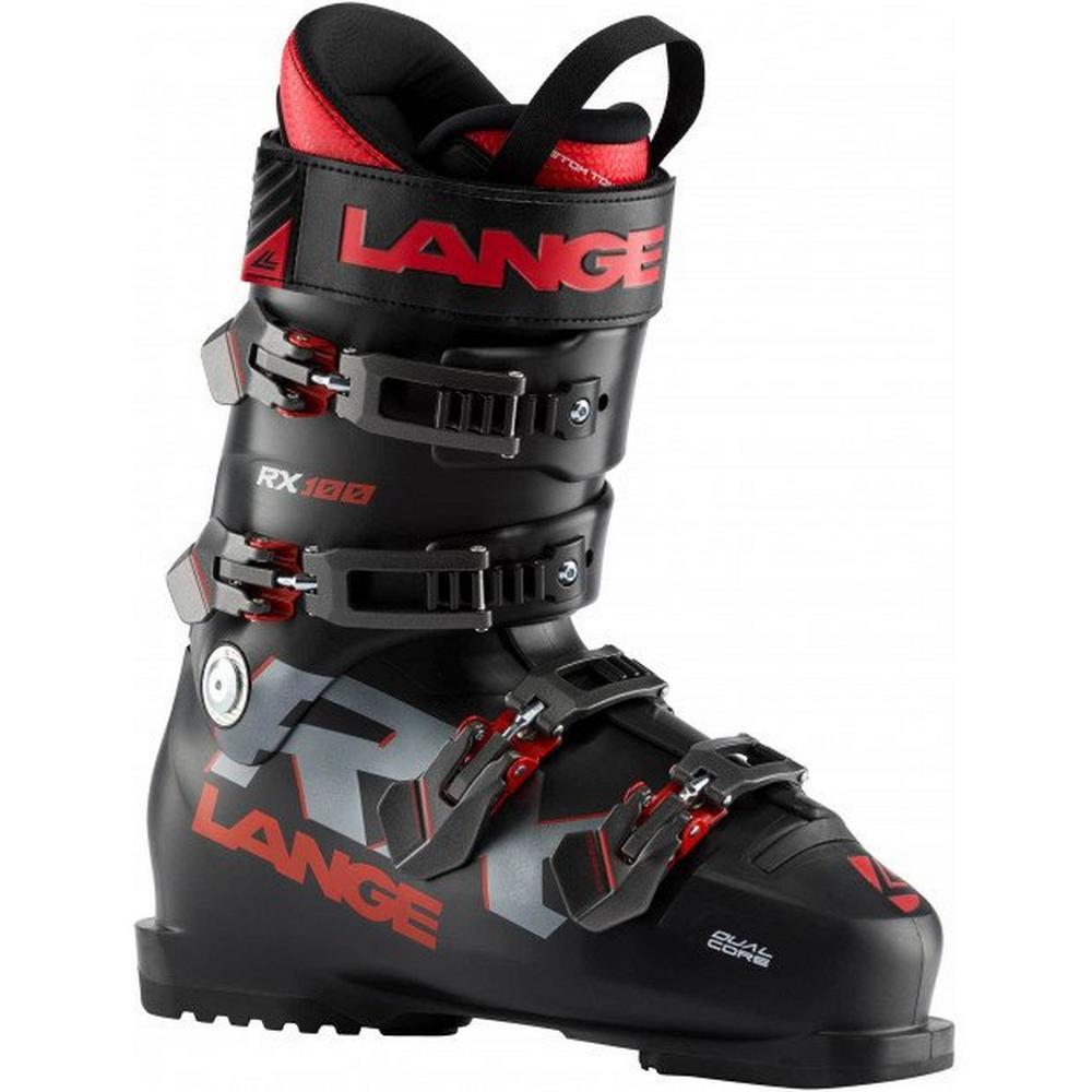 Lange Men's RX 100 Ski Boot - Black/Red