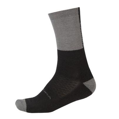 Endura Baabaa Merino Winter Sock - Grey/Black